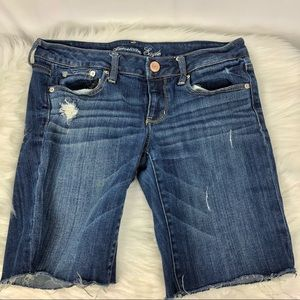 American Eagle Distressed Stretch Bermuda Shorts